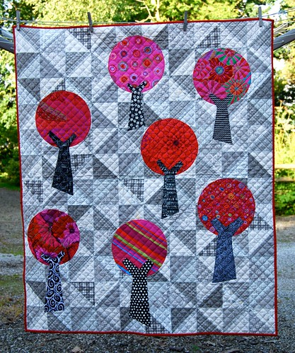 Windmills and Trees Cot Quilt