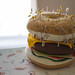 Just your standard felt hamburger pincushion