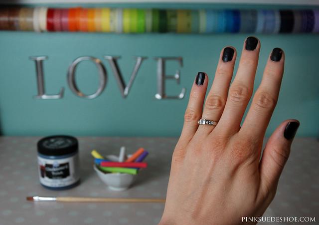 black gothic nails