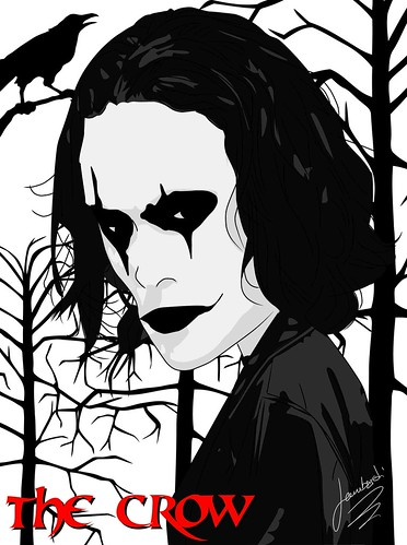 Caricatura The Crow by Giuseppe Lombardi
