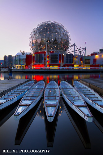 Sunset at Science World