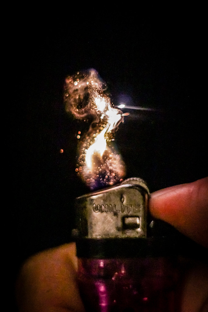 Lighter flame macro
