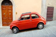 automobile, wheel, vehicle, subcompact car, city car, fiat 500, zastava 750, antique car, land vehicle,