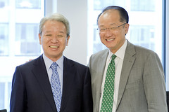 World Bank Group President Jim Yong Kim meets with Dr. Akihiko Tanaka,  President of Japan International Cooperation Agency