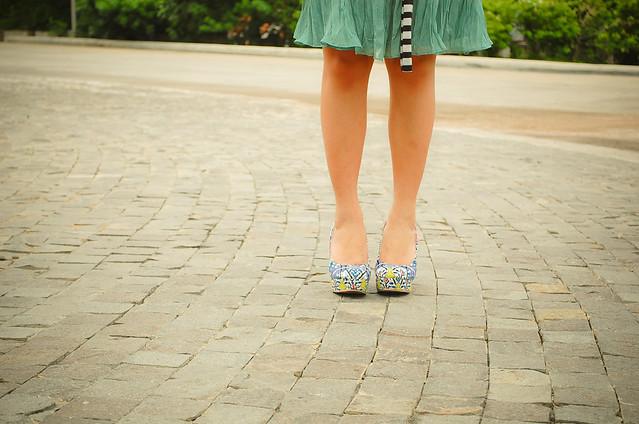 Blue Print Shoe