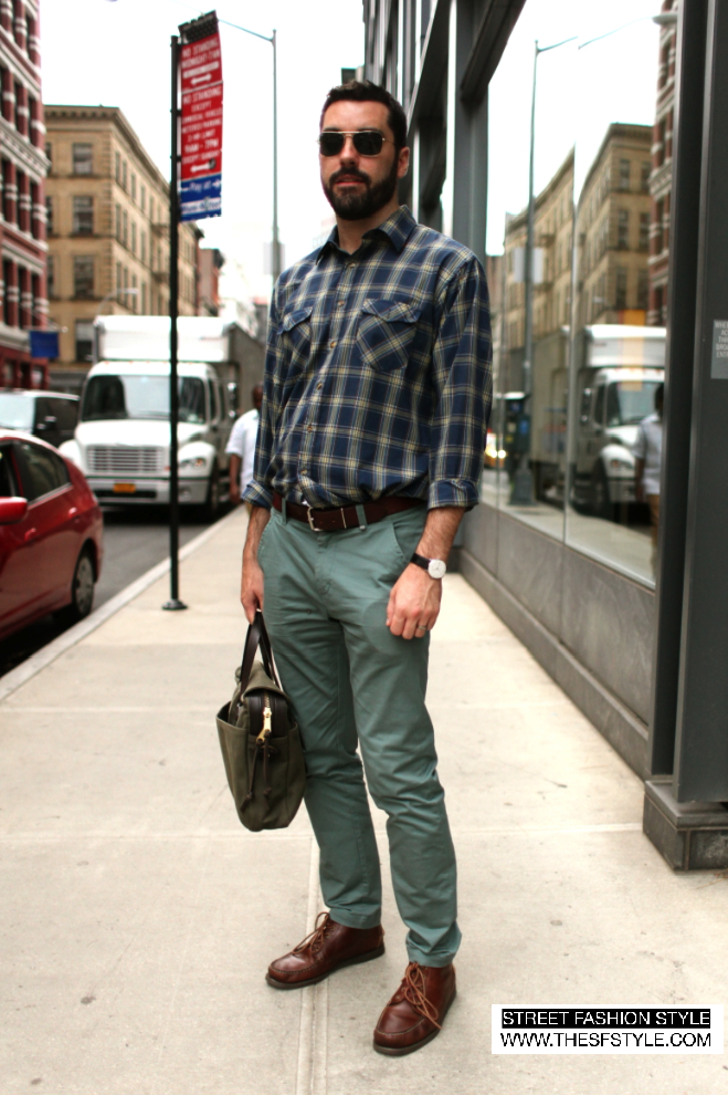 plaid, green, man morsel monday, nyc, new york, street fashion style,