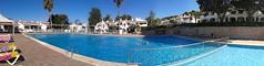 Panoramic of the swimming pool.