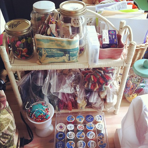 ready to sew #organizedmess #creativespaces #sewing #interiors #unschooling #studio