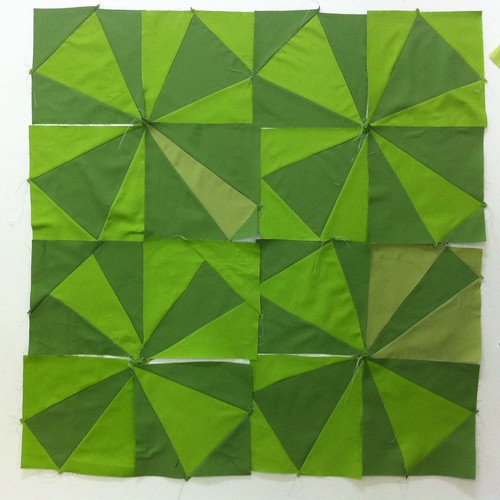 My first four block sets (16 blocks) at Denyse Schmidt's class