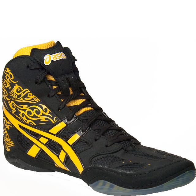 Asics Split Second Wrestling Shoes Black Yellow Tattoo