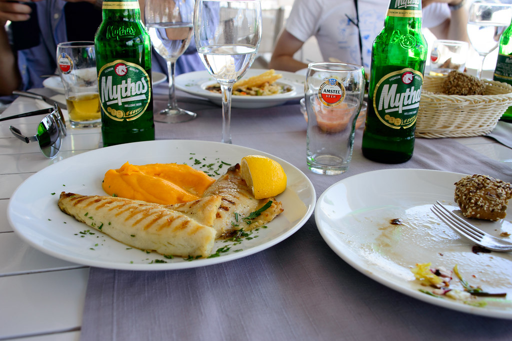 Swordfish fillet & Mythos🍺