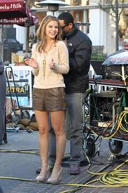 Maria Menounos Leather Shorts Celebrity Style Fashion