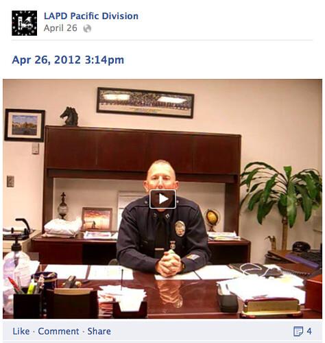 LAPD Pacific Facebook