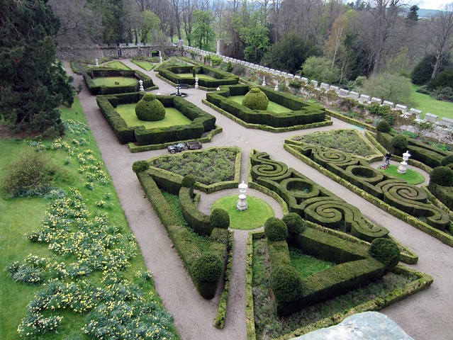 Italian Gardens, Chillingham Castle