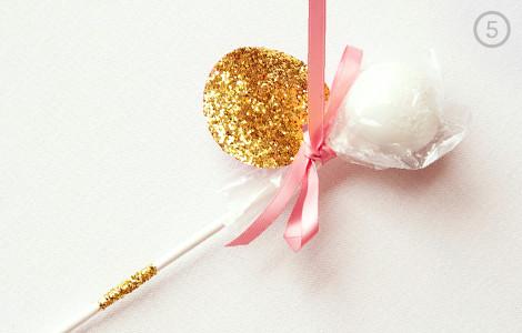 Glittery DIY Cake Pop Favors