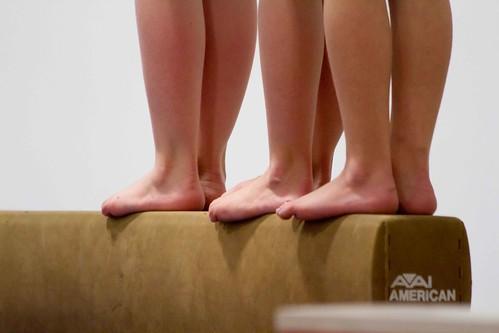 little gymnast feet