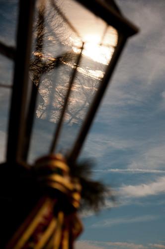 park christmas travel trees light sunset reflection lamp clouds virginia nikon branches va bow nikkor appomattox appomattoxcourthouse d90 nikond90 appomattoxcourthousenationalhistoricpark 18105mmf3556gedafsvrdx