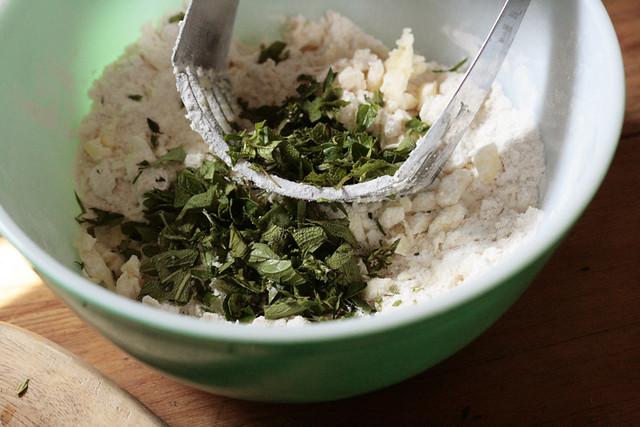 herbs, flour, butter
