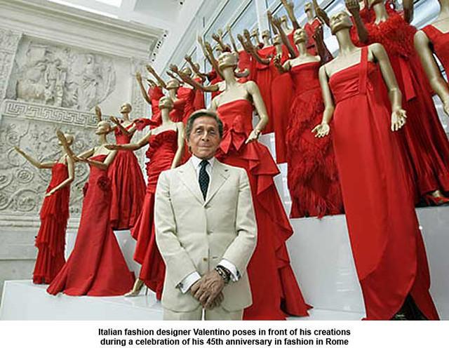 Italian Fashion Designer Valentino