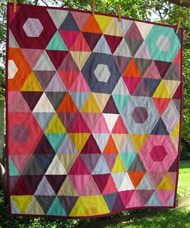 Mini Patchwork Prism Quilt - Front