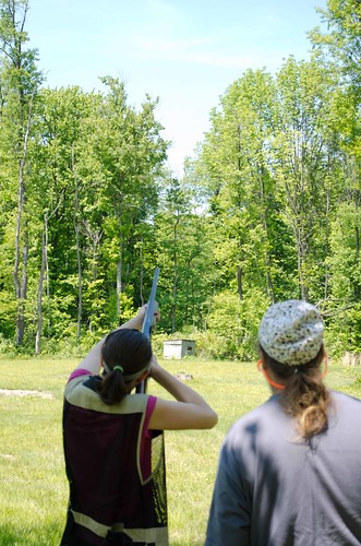 Shooting clays at Island Creek Sporting Clays