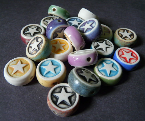 Porcelain Double Sided Beads