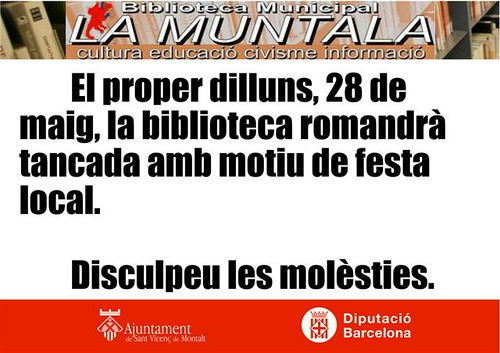 Nota informativa by bibliotecalamuntala