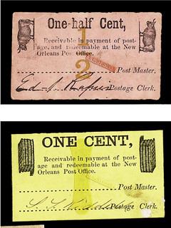 half cent and cent Riddell scrip