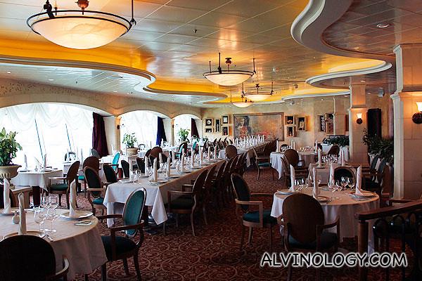 Inside Portofino restaurant