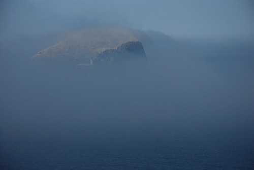 Bass Rock in the Fog