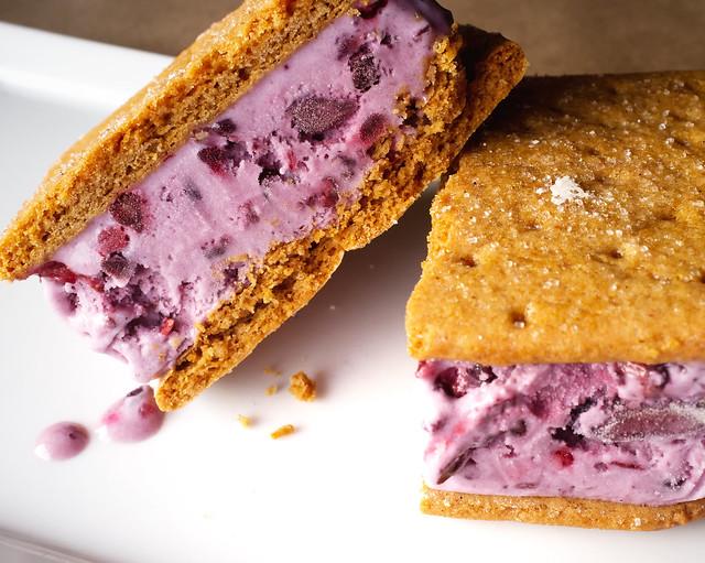 Blackberry Ice Cream Sandwiches [Explore] | Flickr - Photo Sharing!