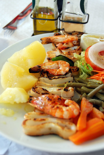 Grilled Prawns and Squid