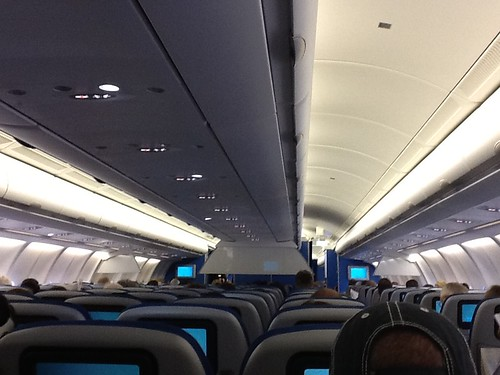 KLM A330-300 economy cabin (seat 27F)