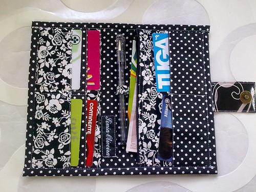 Carteira porta cartões e cheques by ♥Linhas Arrojadas Atelier de costura♥Sonyaxana