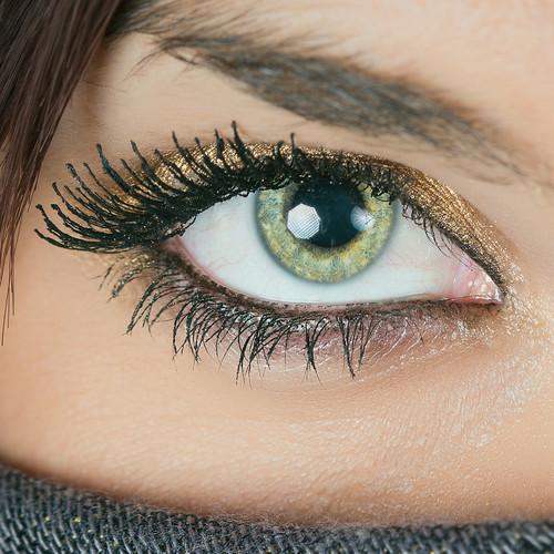 detail closeup female scarf studio model eyes creative tinted personalwork
