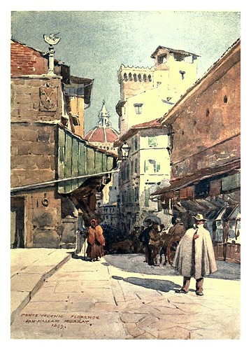 020-Florencia el Duomo desde el Ponte Vecchio-Sketches on the old road through France to Florence-1905- Alexander Henry Hallam Murray