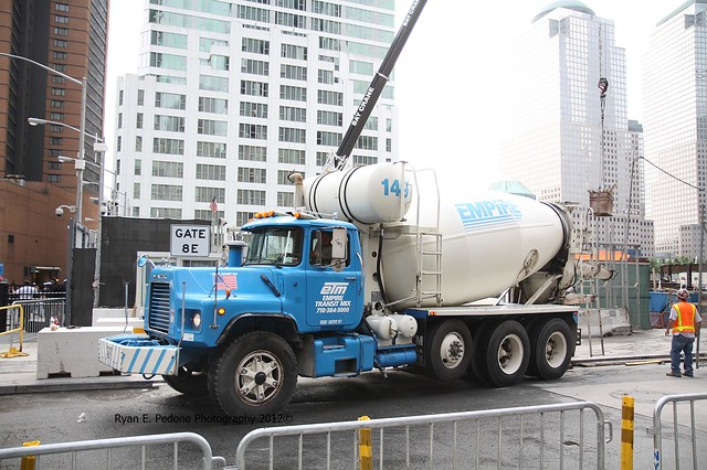 Empire Transit Mix : Empire transit mix truck at the freedom tower flickr