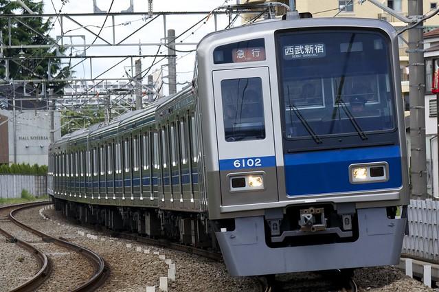 西武鉄道 6000系電車/急行 西武新宿行き