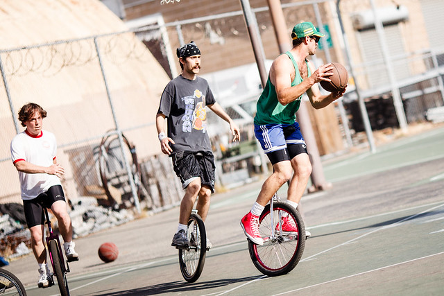 Basketball on Unicycles?