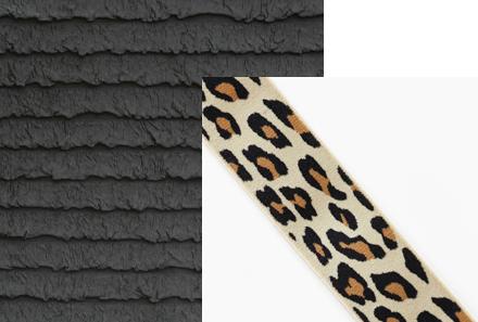 Black Ruffle Fabric & Leopard Elastic