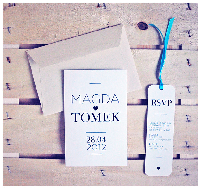 Klasyczne zaproszenia dla Magdy i Tomka