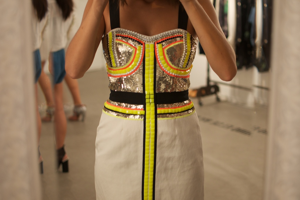 neon sass and bide dress