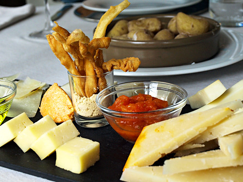 Cheese Plate at Hotel Escuela Santa Brigida, Gran Canaria