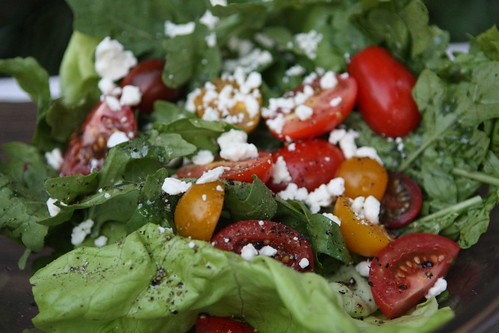 Mixed Greens with Assorted Tomato and Feta