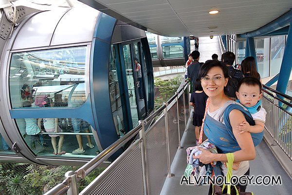 Boarding the Singapore Flyer capsule