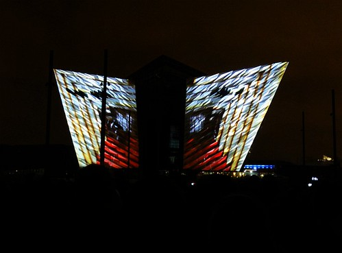 Titanic Belfast Light Show 07
