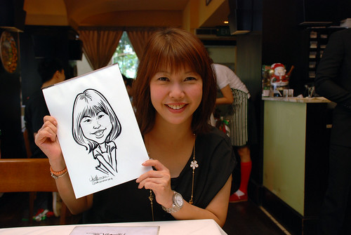 Caricature live sketching at La Noce Italian Restaurant -8
