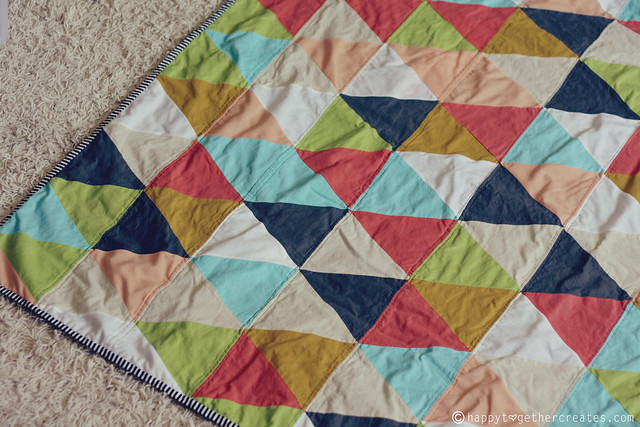 How I Made A Triangle Quilt
