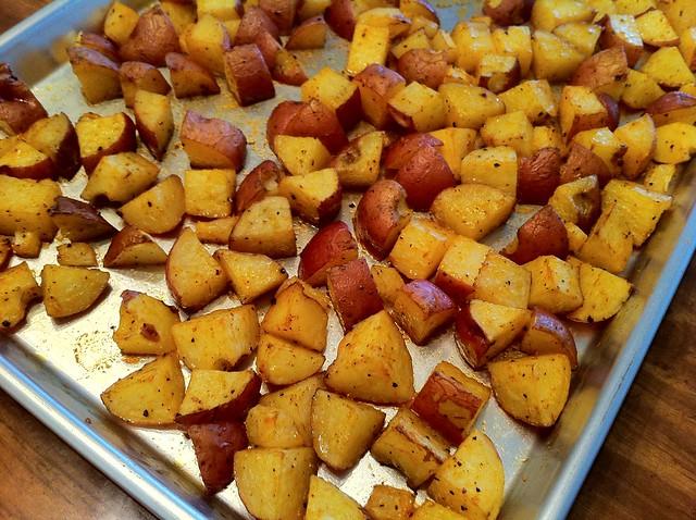 Potatoes Roasted Until Fork Tender