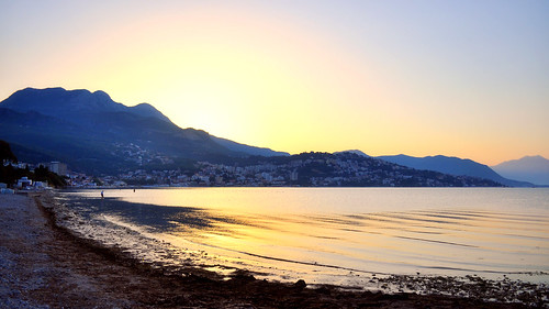 Sunrise over Herceg Novi, Montenegro